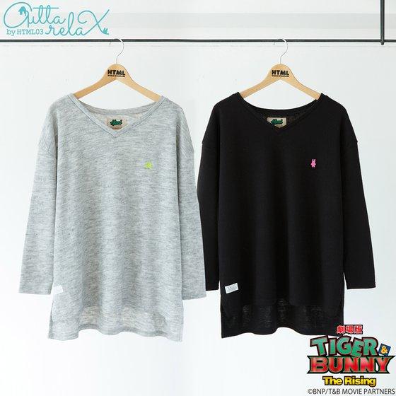 新着!【プレバン】TIGER & BUNNY×HTML Guttarelax Dinky Mate V Neck Sweater(Vネックセーター) グッズ新作情報