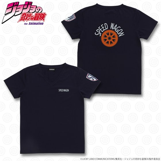ジョジョの奇妙な冒険 スピードワゴン財団 Tシャツ ネイビー グッズ新作情報