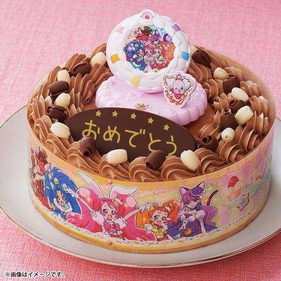 新着!【プレバン】キャラデコお祝いケーキ キラキラ☆プリキュアアラモード(チョコクリーム)(5号サイズ) グッズ新作情報