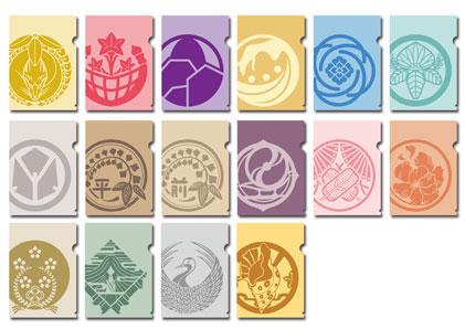 あみあみ新着!刀剣乱舞-ONLINE- 紋ミニクリアファイルコレクション【第二弾】 20枚入りBOX