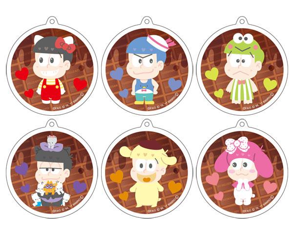 あみあみ新着!おそ松さん×Sanrio Characters リフレクションキーホルダー チョコレートver 6個入りBOX グッズ新作情報