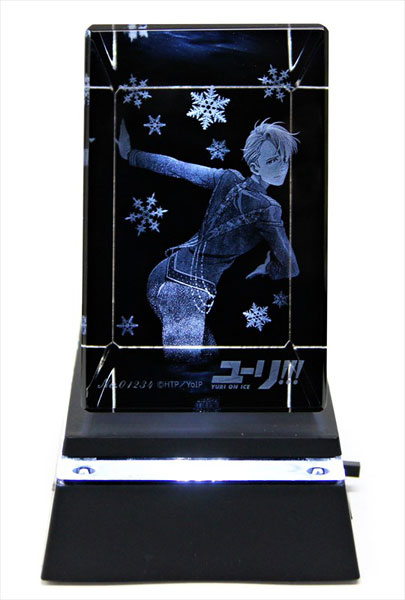 あみあみ新着!ユーリ!!! on ICE 3Dクリスタルアート ヴィクトル・ニキフォロフ 台座付き 新作グッズ情報