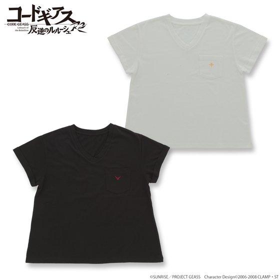 プレミアムバンダイ新着!コードギアス 反逆のルルーシュ R2 ポケット付Tシャツ 新作グッズ情報
