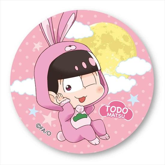 ホビーストック新着!  ##おそ松さん ぷかっしゅ 缶バッチ 月見バージョン