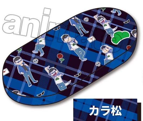 アニメイト新着!##おそ松さん メガネケース 刺繍ワッペン付き カラ松 グッズ新作速報