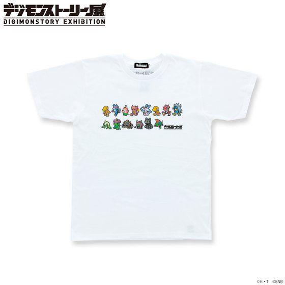 プレミアムバンダイ新着!デジモンストーリー展 オリジナルTシャツ(ドット) グッズ新作速報