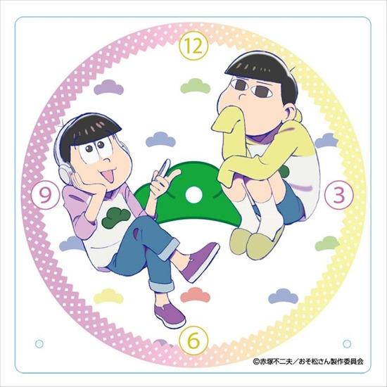 ホビーストック新着!  ##おそ松さん アクリル置き時計 十四松・トド松 新作グッズ情報